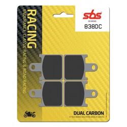 SBS 838DC Front Dual Carbon Brake Pad for Kawasaki ZX-6R 07