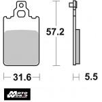 SBS 109HF Rear Ceramic OE Replacement Break Pad