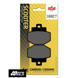 SBS 166CT Rear Carbon OE Replacement Break Pad