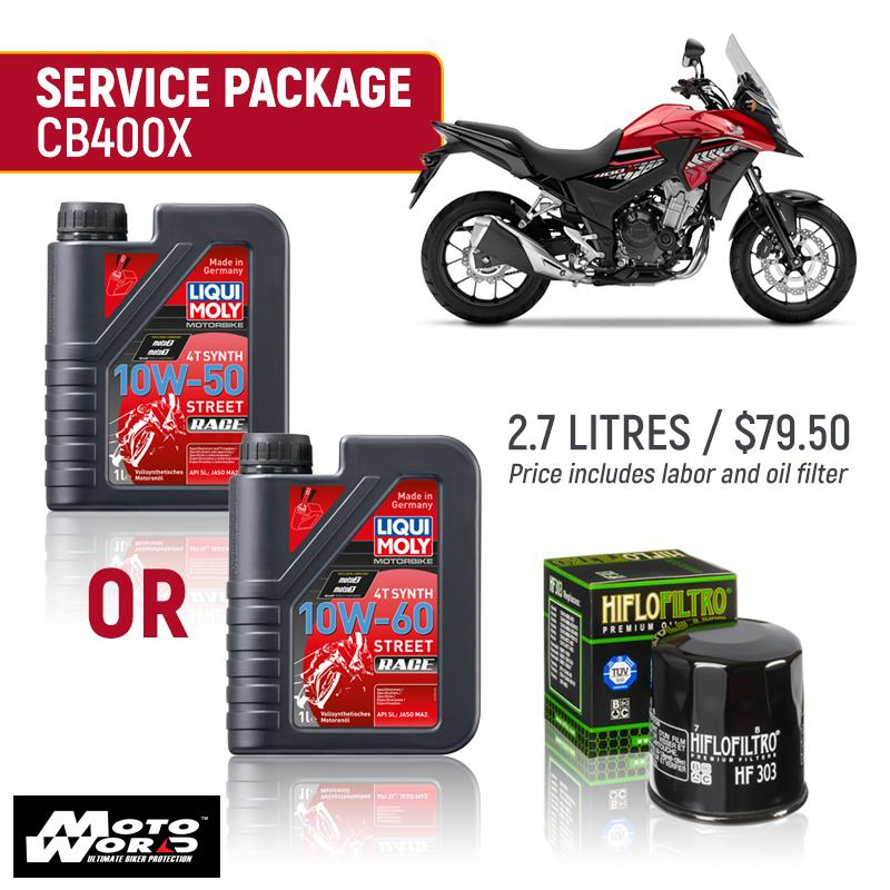 Liqui Moly CB400X Race Service Package