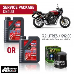 Liqui Moly CB400 Race Service Package