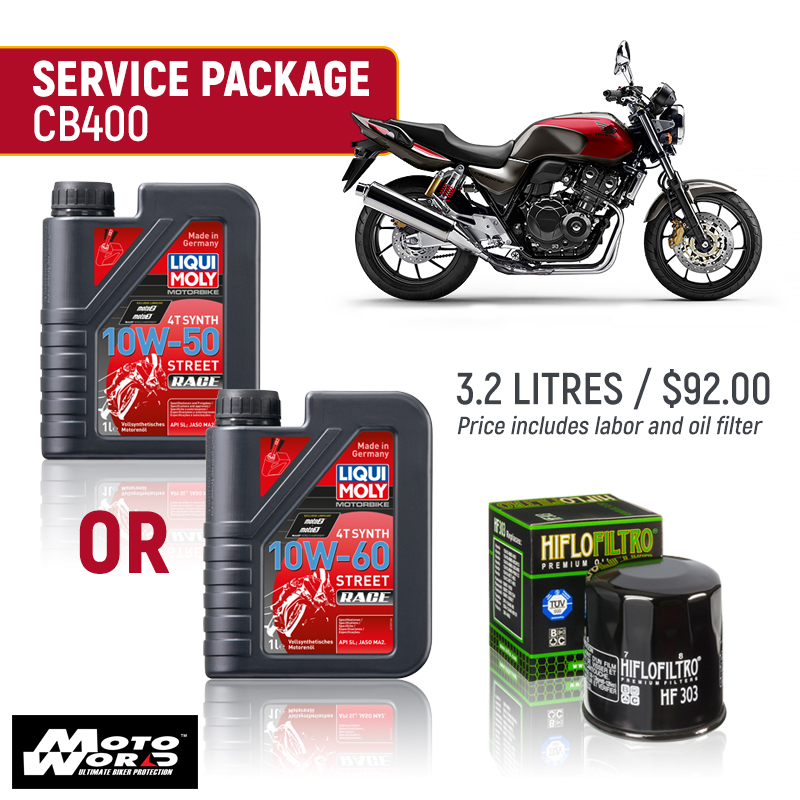 Liqui Moly CB400 Race Service Package