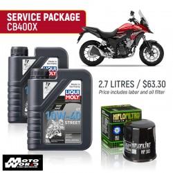 Liqui Moly CB400X Street Service Package