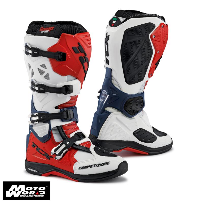 TCX 9661 Comp EVO Michelin Boots White/Red/Blue