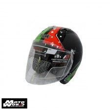 Trax TR03ZR Open Face Motorcycle Helmet
