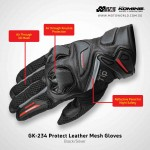 Komine GK 234 Protect Leather Mesh Gloves