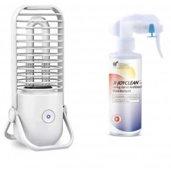 Home Cleaning Package - Xiaomi Xiaoda Small Light UV Disinfection Lamp - White & Xjoyclean Disinfectant 200ML