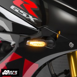 Yoshimura USA 072BGLTSFK-S SEQUENTIAL LED Front Turn Signal Kit