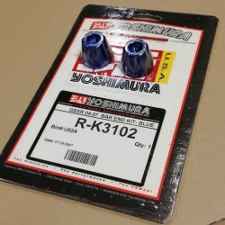 Yoshimura RK3102 Blue Bar End Kit for Suzuki GSX-R 04-05