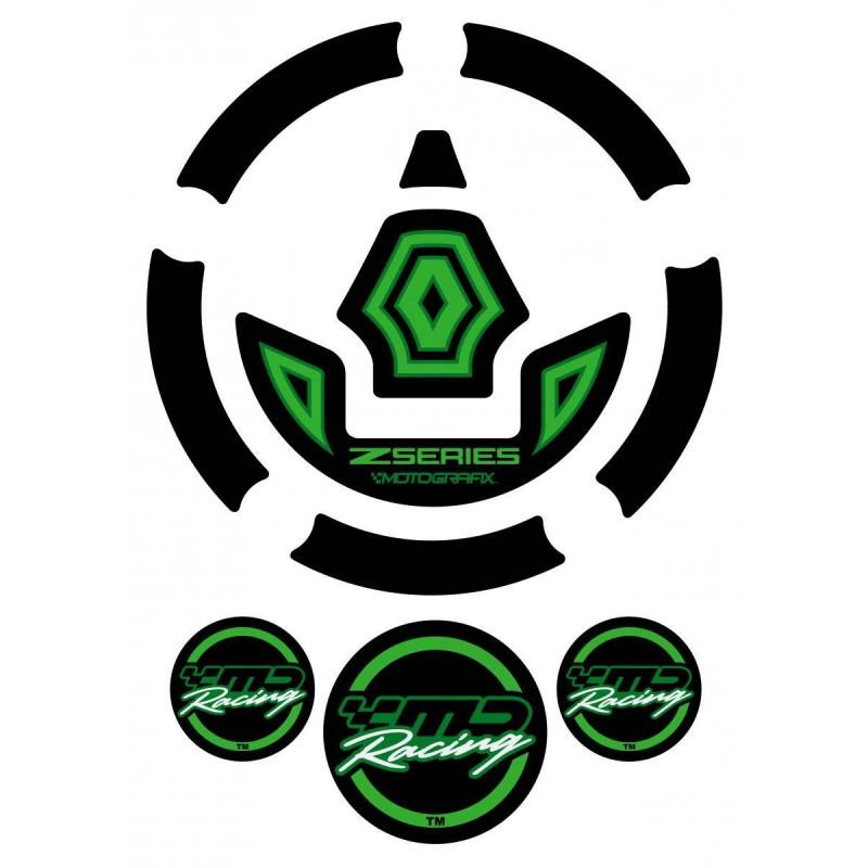 Motografix CAD KGC001G Fuel Cap Sticker for Kawasaki Z1000 Z Series Green