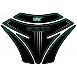 Motografix CAD TK013KG Tank Pad for Kawasaki GTR1400 Kawasaki Style Black/Green