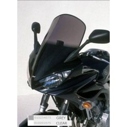 Ermax 010201075 Touring Windshield for Yamaha FZ6 Fazer 04-07 with Fitting Kit Clear +10cm