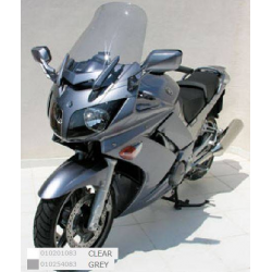 Ermax 010254083 Touring Windshield for Yamaha FJR 1300 with Flip Up Screen Fjr1300 06-12 Grey