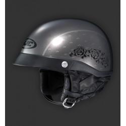 HJC CL Ironroad Black Rose MC5 Classic Face Motorcycle Helmet