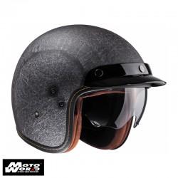 HJC FG 70S Vintage Flat Black Classic Motorcycle Helmet