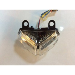 JST 8142CLEDW LED Integrated Tail Light for Ducati 1098 09-11 Clear Lens with Reflector