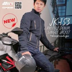 Komine JK-153 Protect Denim Single Motorcycle Riding Jacket
