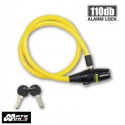 Komine LK 124 Alarm Wire Helmet Lock