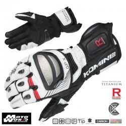 Komine GK 212 Titanium Racing Gloves