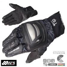 Komine GK 214 Titanium Mesh Motorcycle Leather Gloves