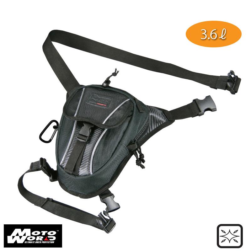 Komine SA 053 BLACK Riding Leg Bag 1