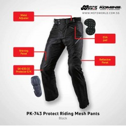 Komine PK743 Protect Riding Mesh Pants