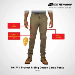 Komine PK 744 Protect Riding Cotton Cargo Pants