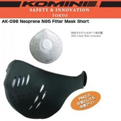 Komine AK 098 Neoprene N95 Filter Mask Short