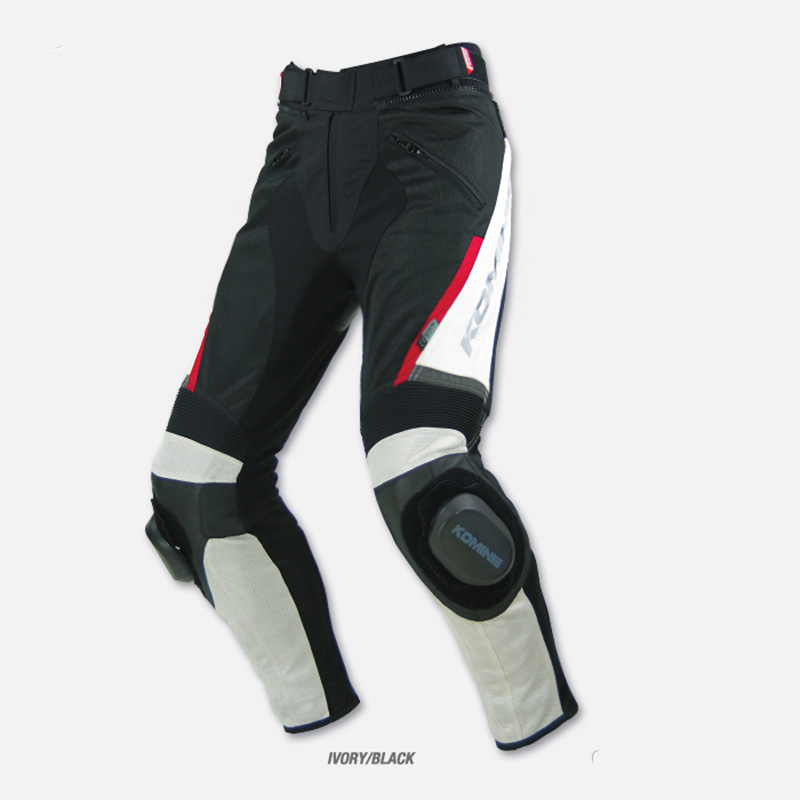 Komine PK-717 Sports Riding Leather Mesh Pants
