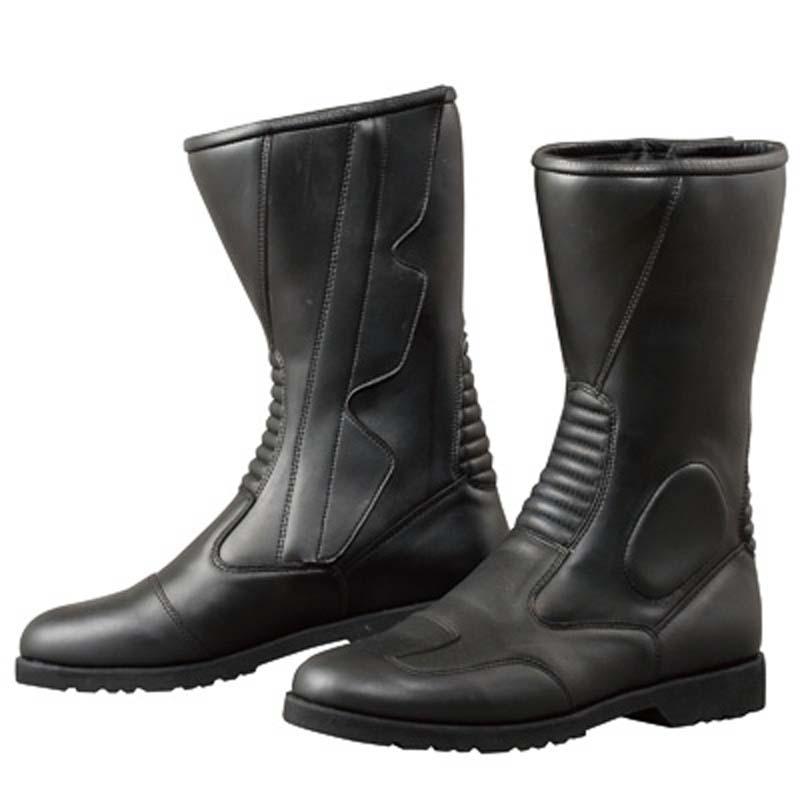 Komine KO K520 Side Zipper Boots Wide - Black