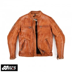 Helstons Track Leather Jacket in Camel