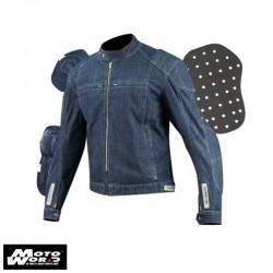 Komine JK077 Indigo Blue Kevlar Denim Jacket