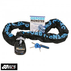 Oxford OF16 Monster 14mm Hex Chain and Padlock