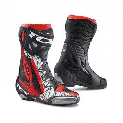 TCX 7652 Black-Red-White RT Race Pro Air Boots for Mens