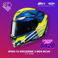 HJC RPHA 70 Wolverine X Men MC3H Full Face Motorcycle Helmet