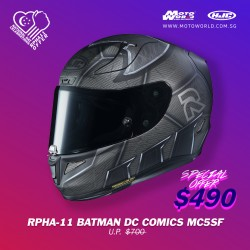 HJC RPHA 11 Batman DC Comics MC5SF Full Face Motorcycle Helmet