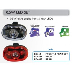 Oxford LD663 1/2W Torch Front & Rear Led Set