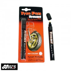 Oxford TYPWH Tyre Art Paint In A Pen White