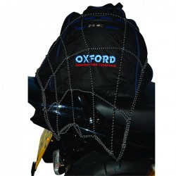 Oxford OF124 Reflective Cargo Net-Black/Reflective