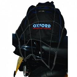 Oxford OF124 Reflective Cargo Net-Black/Reflective