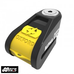 Oxford LK278 Alpha XA14 Alarm Disc Lock(14mm pin) Black/Yellow Cover