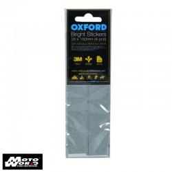 Oxford RE462 Bright Stickers - Reflective 25 X 150mm (4Pcs)