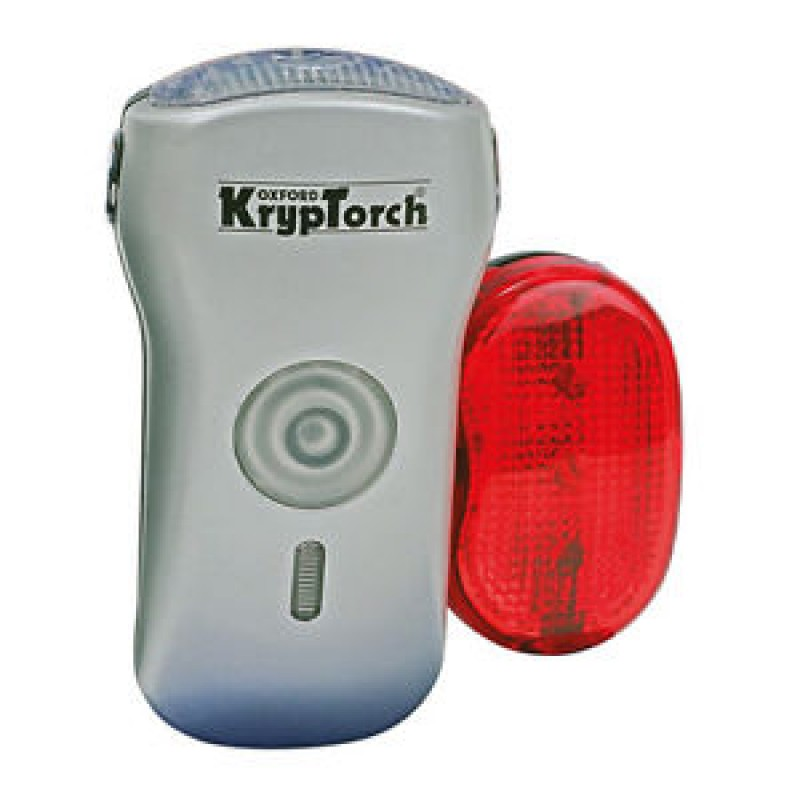 Oxford Kryptorch Bike Bicycle Cycle Front Lamp with 5 LED Tail Light 590-OF312