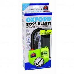 Oxford OF4 Big Boss Alarm Lock 16mm Shackle (Yellow)