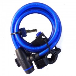 Oxford OF245 Blue Cable Lock - 1.8M X 12Mm