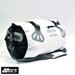 Oxford OL913 White Aqua Motorcycle Roll Bag