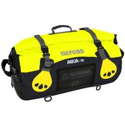 Oxford OL980 Aqua T-30 Roll Bag - Black/Fluo