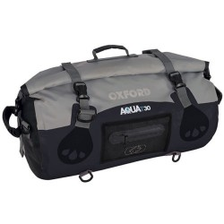 Oxford OL990 Aqua T-30 Roll Bag - Black/Grey