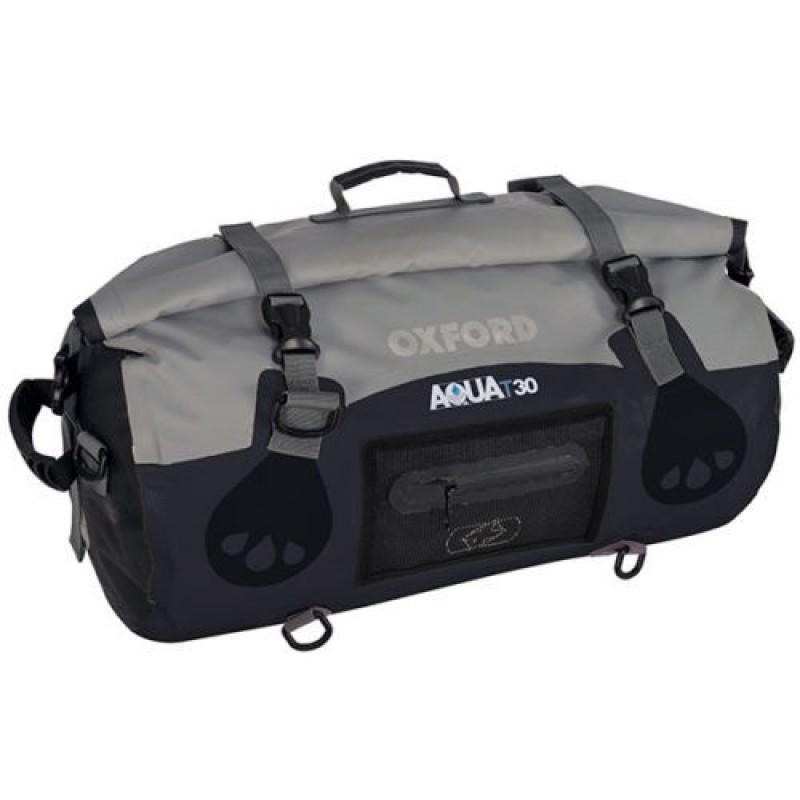 Oxford OL990 Aqua T-30 Roll Bag - Black/Grey