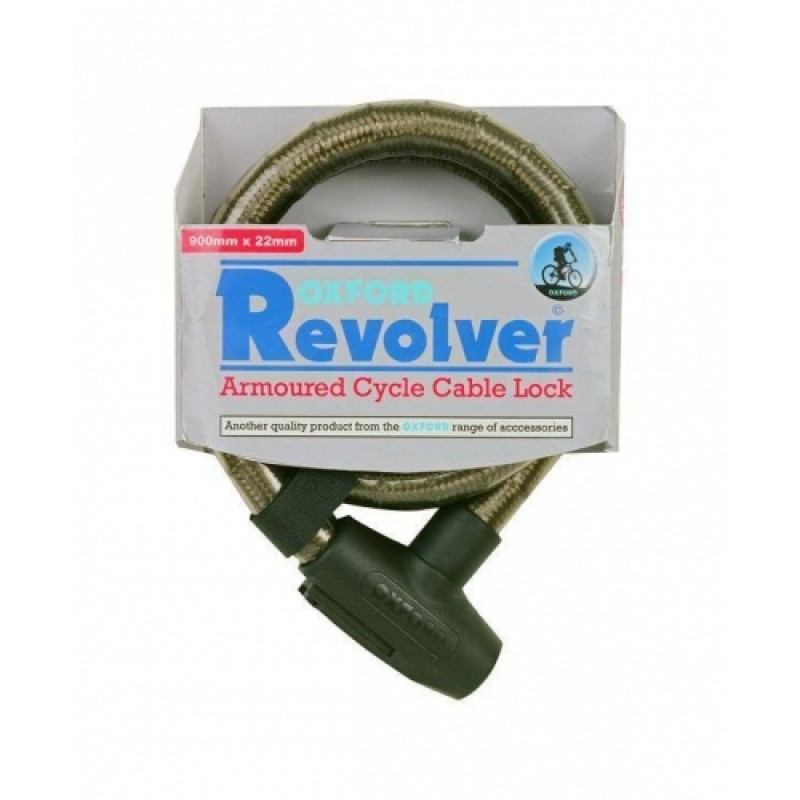 Oxford OF284 Revolver Armoured Cable Bike Lock 900mm x 22mm